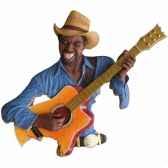 fixation murale resine guitare statue musicien y20fr 706