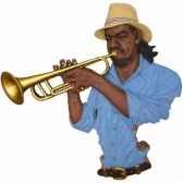 fixation murale resine trompette statue musicien y20fr 702