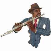 fixation murale resine flute statue musicien y20fr 703