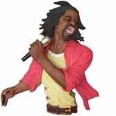 fixation murale resine chanteur statue musicien y20fr 705