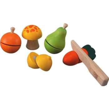Jeu de fruits et légumes en bois - Plan Toys 5337