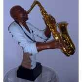 figurine resine saxophone statue musicien y20zp 1623