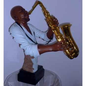 Figurine résine saxophone Statue Musicien -Y20ZP-1623