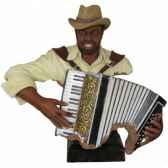 figurine resine accordeon statue musicien y20zp 1617