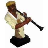 figurine resine clarinette statue musicien y20zp 1710