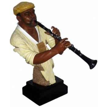 Figurine résine clarinette Statue Musicien -Y20ZP-1710