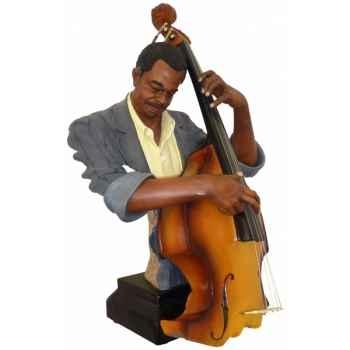 Figurine résine contrebasse Statue Musicien -Y20ZP-1536