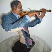 figurine resine violon statue musicien y20zp 1534