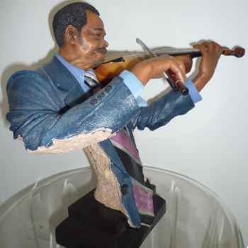 Figurine résine violon Statue Musicien -Y20ZP-1534