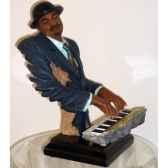 figurine resine clavier statue musicien y20zp 1524