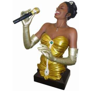 Figurine résine chanteuse Statue Musicien -Y20ZP-1532