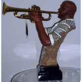 figurine resine trompette statue musicien y20zp 1706