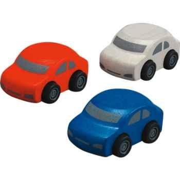 Automobiles familiales en bois - Plan Toys 6071