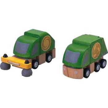 Camion de propreté en bois - Plan Toys 6069