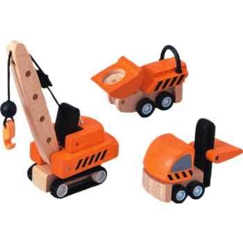Engins de chantier en bois - Plan Toys 6087