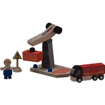 Grue de déchargement en bois - Plan Toys 6213