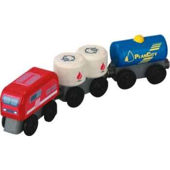 Train à combustible en bois - Plan Toys 6094