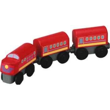 Train omnibus en bois - Plan Toys 6034