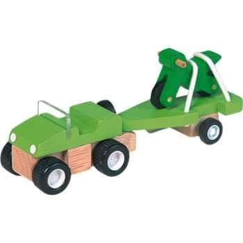 Véhicule 4x4 & moto en bois - Plan Toys 6052