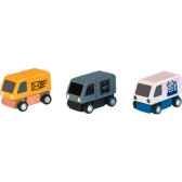vehicules de livraison en bois plan toys 6003
