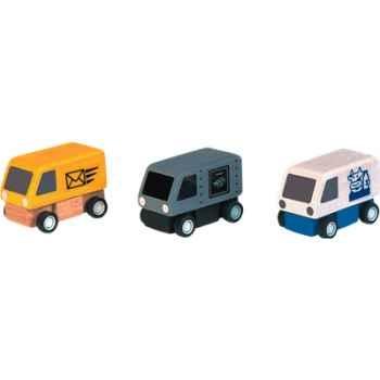 Véhicules de livraison en bois - Plan Toys 6003