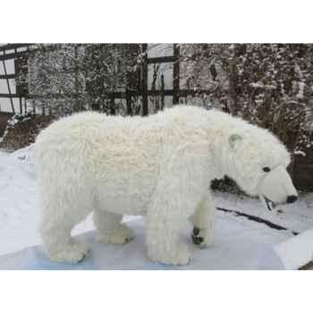 Peluche Automate ours polaire à 4 pattes 65cmh/105cml (4446) Anima -0071