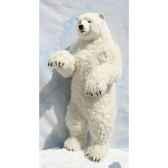 peluche automate ours polaire dresse 100cmh 50cm4445 anima 0095
