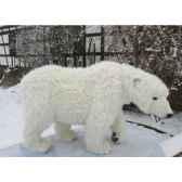peluche automate ours polaire a 4 pattes 92cmh 180cm5309 anima 0101