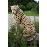 peluche automate guepard assis 110cmh 75cm5339 anima 0150