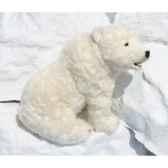 peluche automate ours polaire assis 50cmh 88cm3106 anima 0212