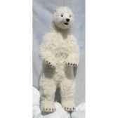 peluche automate ours polaire dresse 150cmh 65cm3650 anima 0241