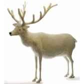 peluche automate renne blanc 150cmh 140cm5923 anima 0278