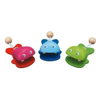 Les poissons castagnettes en bois - Plan Toys 6406
