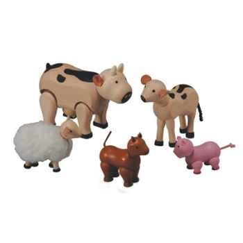 Les animaux de la ferme en bois - Plan Toys 7135