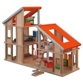 Maison chalet meublée en bois - Plan Toys 7141