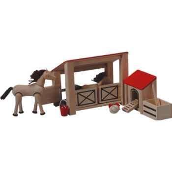 L'écurie en bois - Plan Toys 7149