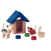 animaux domestiques en bois plan toys 7314
