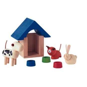 Animaux domestiques en bois - Plan Toys 7314