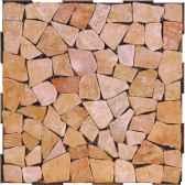 4 dalles clipsables pierres plates roses fabulous garden sm101858