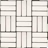 4 dalles clipsables rectangles blancs a italienne fabulous garden sm102088