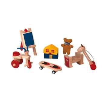 Accessoires de chambre enfants en bois - Plan Toys 9711