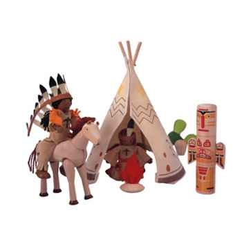 Village indiens en bois - Plan Toys 6309