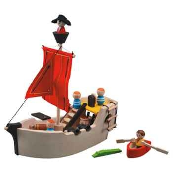 Le bateau pirate en bois - Plan Toys 6105