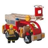 camion de pompier en bois plan toys 6310
