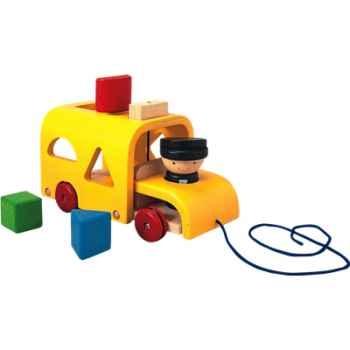 L'autobus a formes en bois - Plan Toys 5121
