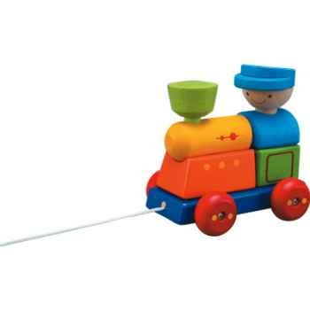 Locomotive à assembler en bois - Plan Toys 5119
