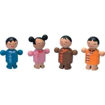 Famille poupees asiatique en bois - Plan Toys 6074