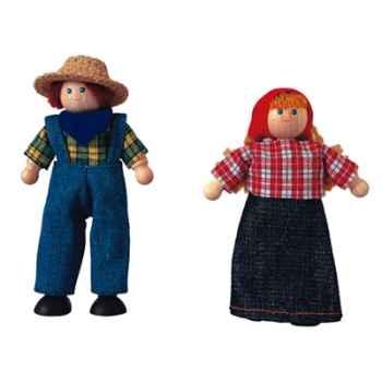 Poupée fermier en bois - Plan Toys 7136