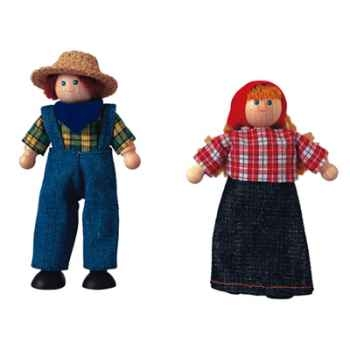 Poupée fermière en bois - Plan Toys 7137