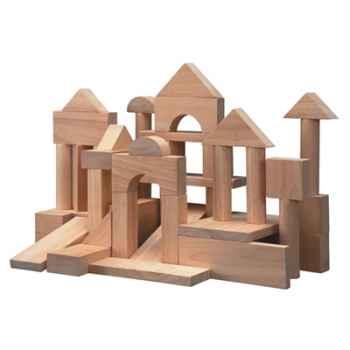 50 blocs bois naturel 35mm- Plan Toys 9739